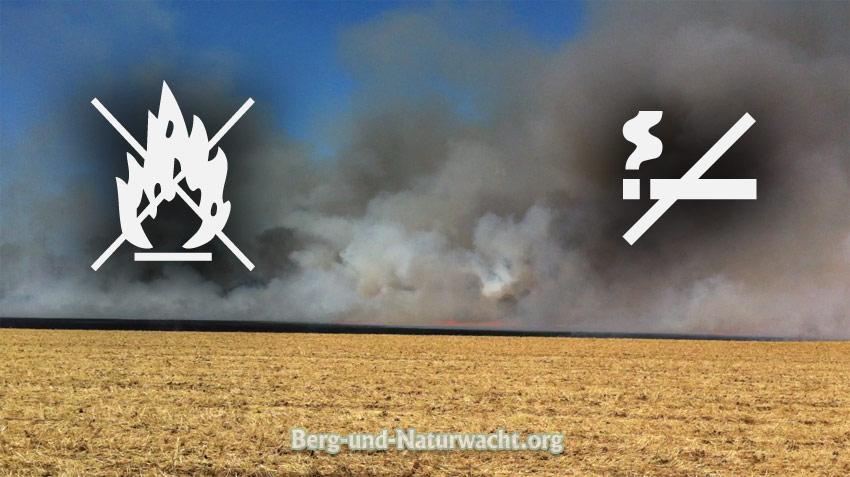 Brandgefahr im Wald | Graphik: Berg-und-Naturwacht.org