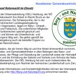 Vorstellung der Berg und Naturwacht Hainburg in den Hundsheimer Gemeindenachrichten