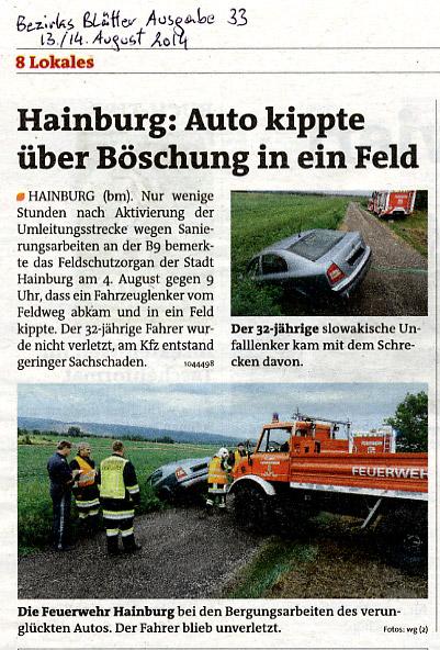 Medienbericht der Bezirksblätter Einsatz Feldschutzorgan | Copyright by Bezirksblätter