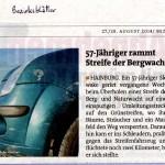 Medienbericht der Bezirksblätter über NÖ Berg- und Naturwacht Hainburg