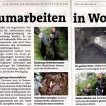 Medienbericht Bezirksblätter - Räumung Fischkadaver durch NÖ Berg- und Naturwacht Ortseinsatzleitung Hainburg | (C) by Bezirksblätter