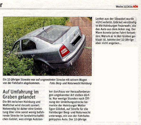 Bericht der NÖN über Feldschutzorgan der Stadt Hainburg | Copyright by NÖN