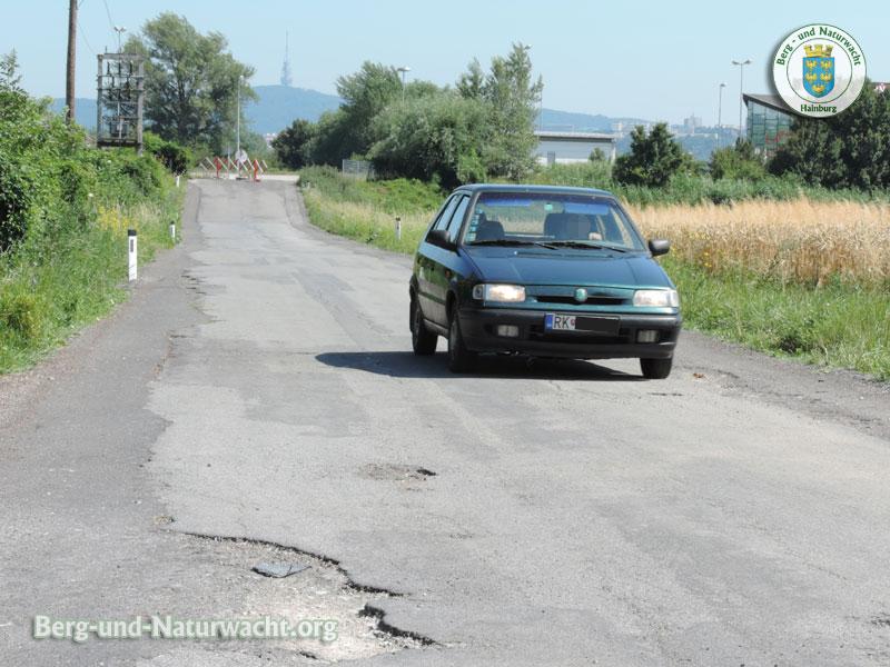 Lenker räumte Absperrigitter zur Seite | Foto: Berg-und-Naturwacht.org