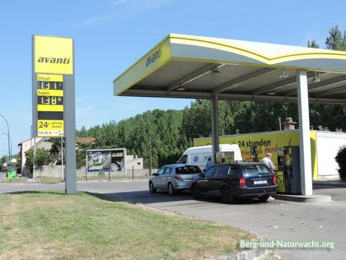 Umweltverschmutzung avanti Tankstelle in Wolfsthal | Foto: Berg-und-Naturwacht.org