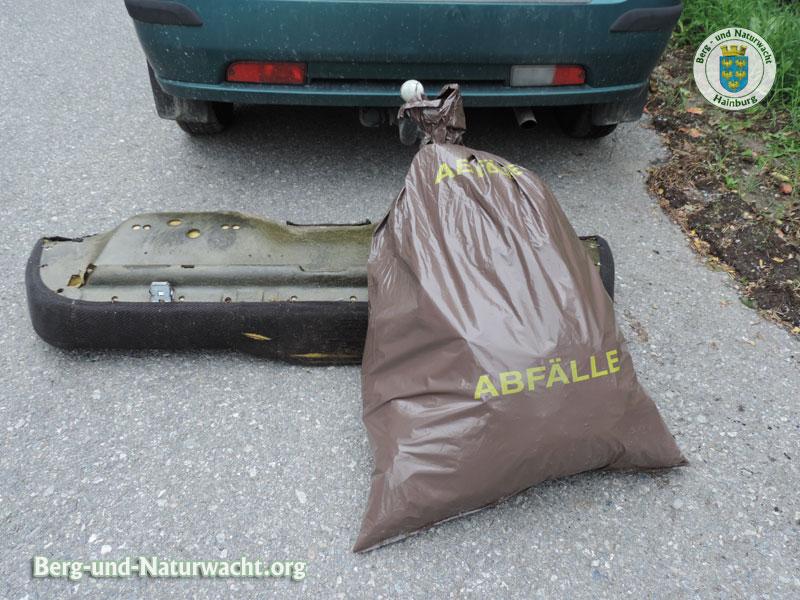 14 kg gesammelte Abfälle | Foto: Berg-und-Naturwacht.org