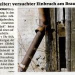 Bezirksblätter - Medienbericht über Einbruch in Feldgut