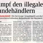NÖN berichtet über Einsatz der NÖ Umweltwacht im Verdachtsfall des illegalen Welpenhandels