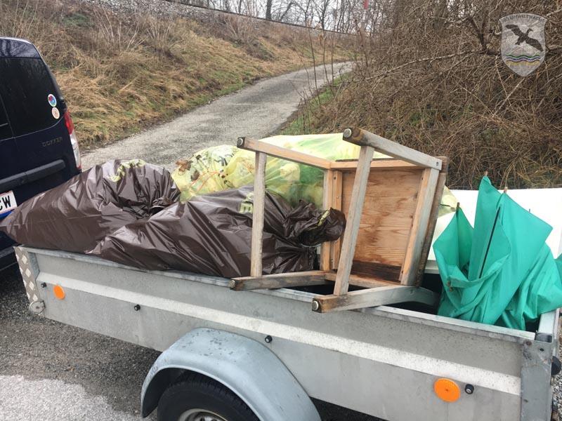 Umweltschutzaktion der NÖ Umweltwacht in Bad Deutsch-Altenburg