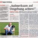 Medienbericht NÖN über NÖ Berg- und Naturwacht OEL Hainburg   Copyright by NÖN
