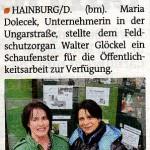 Bezirksblätter: Schaukasten für NÖ Umweltwacht von Maria Dolecek in Hainburg