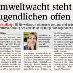 Medienbericht NÖN über NÖ Umweltwacht
